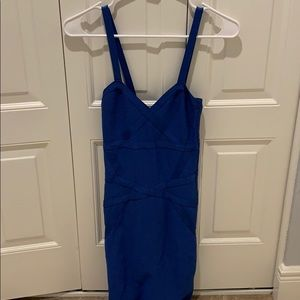 Bebe body con royal/cobalt blue dress - XS